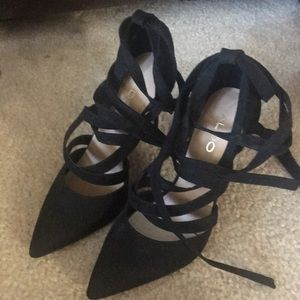 Aldo Black Lace Up high heels